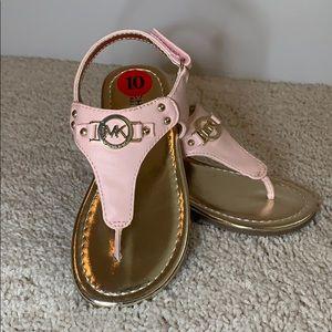 NEW Michael Kors Jayla-T  pink kids sandals